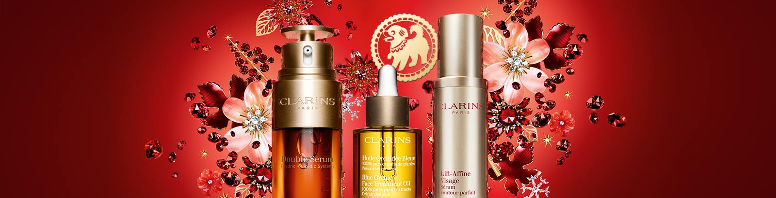 Happy New Year! See beauty blossom with Clarins. Celebrate with fresh-picked formulas for luminous skin.