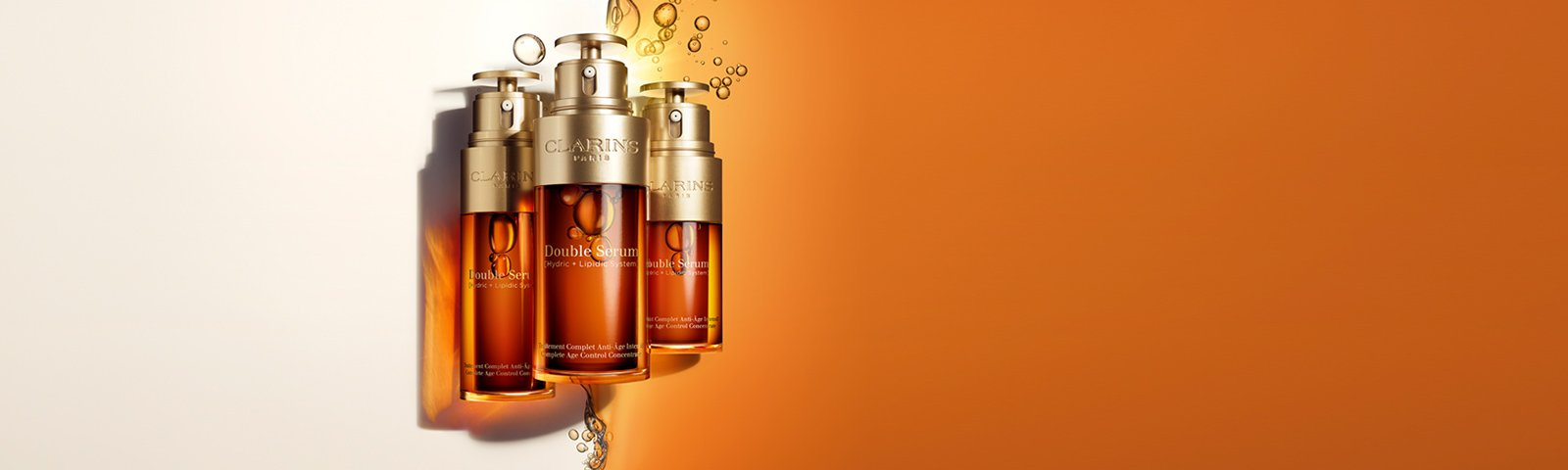 Double Serum: Tested. Trusted. Recommended. Two power-packed serums in one to address all visible signs of aging.