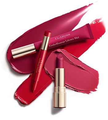 The three new products from the collection: Joli Rouge Crayon, Lip Perfector and Joli Rouge Velvet