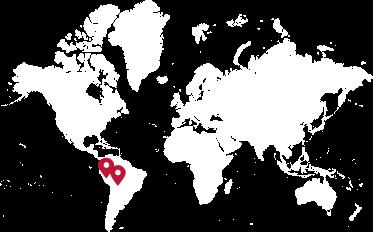 在地图上标注的藜麦