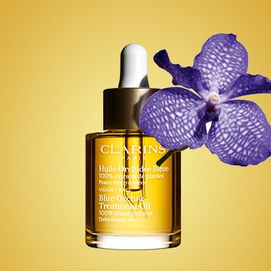 Blue Orchid Oil with Blue Orchid flower