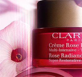 Rose Radiance Cream jar with Hibiscus Flower