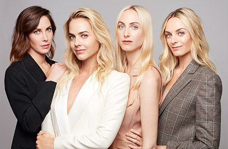 Portrait of Claire, Jenna, Prisca and Virginie Courtin-Clarins