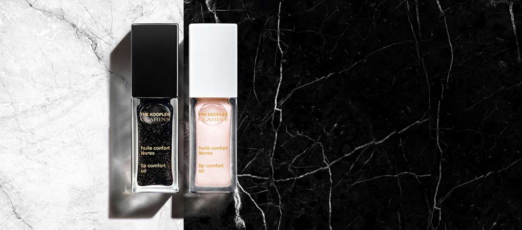 The Kooples x Clarins: The legendary Lip Comfort Oil gets a new look.