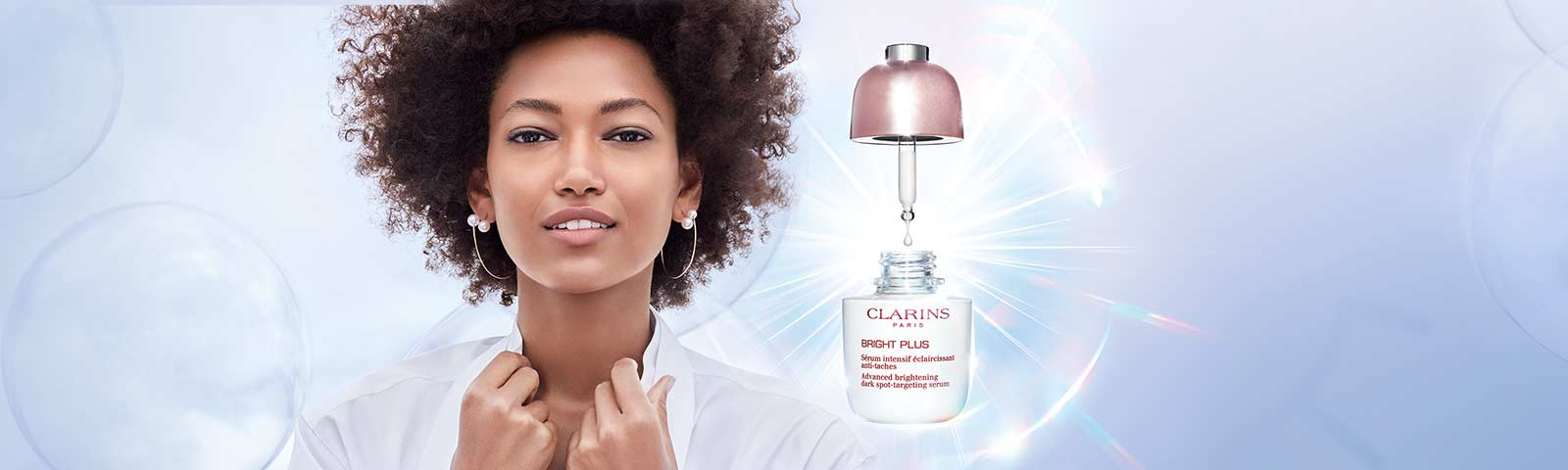 Bright Plus Serum: Visibly brightens, evens, targets the appearance of dark spots.