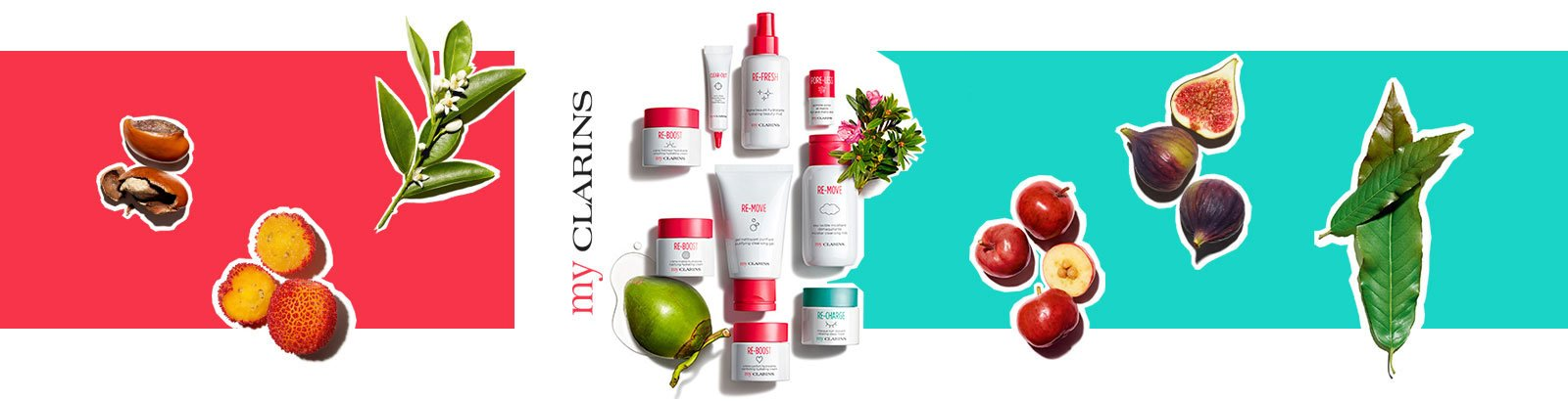 Introducing My Clarins: My Detoxifying & Nourishing Skincare. The perfect balance of plant & fruit extracts for healthy-looking skin.