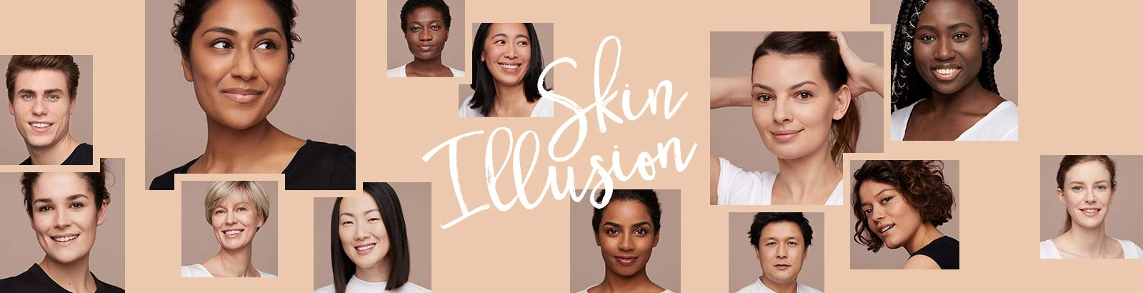 New Skin Illusion. Clarins' first serum foundation creates a luminous, bare skin feel. Ideal for all ages, all skin tones.