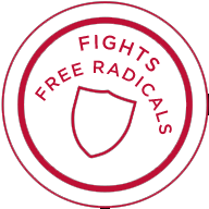 Cosmetic benefit stamp: fighting free radicals