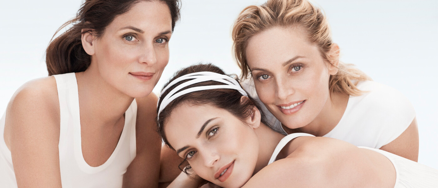 Clarins anti-aging models