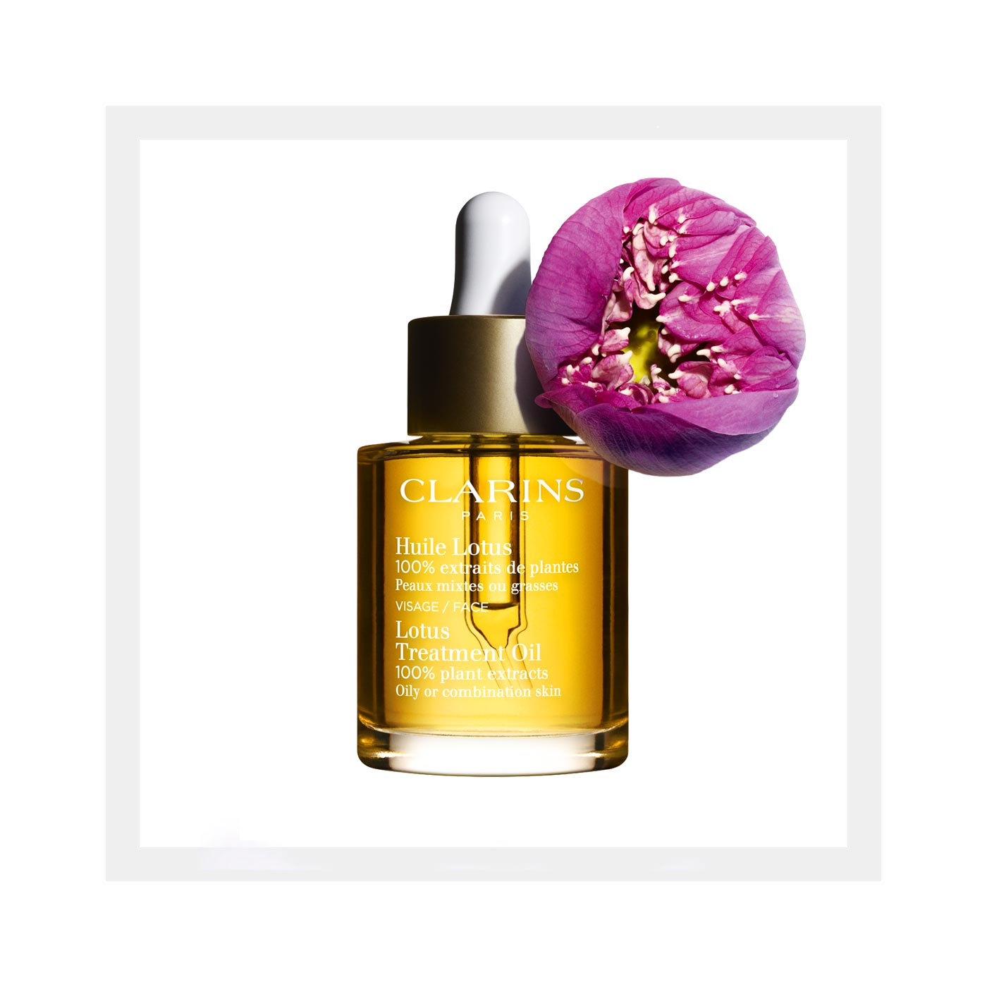 Hydrating Face Oil — Facial Oil With Lotus — Clarins - Clarins