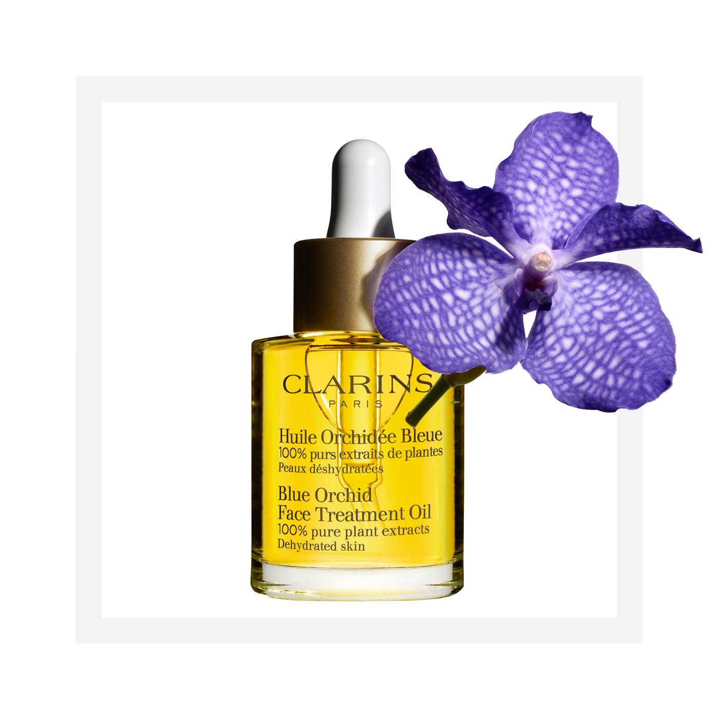 ผลการค้นหารูปภาพสำหรับ clarins blue orchid face treatment oil