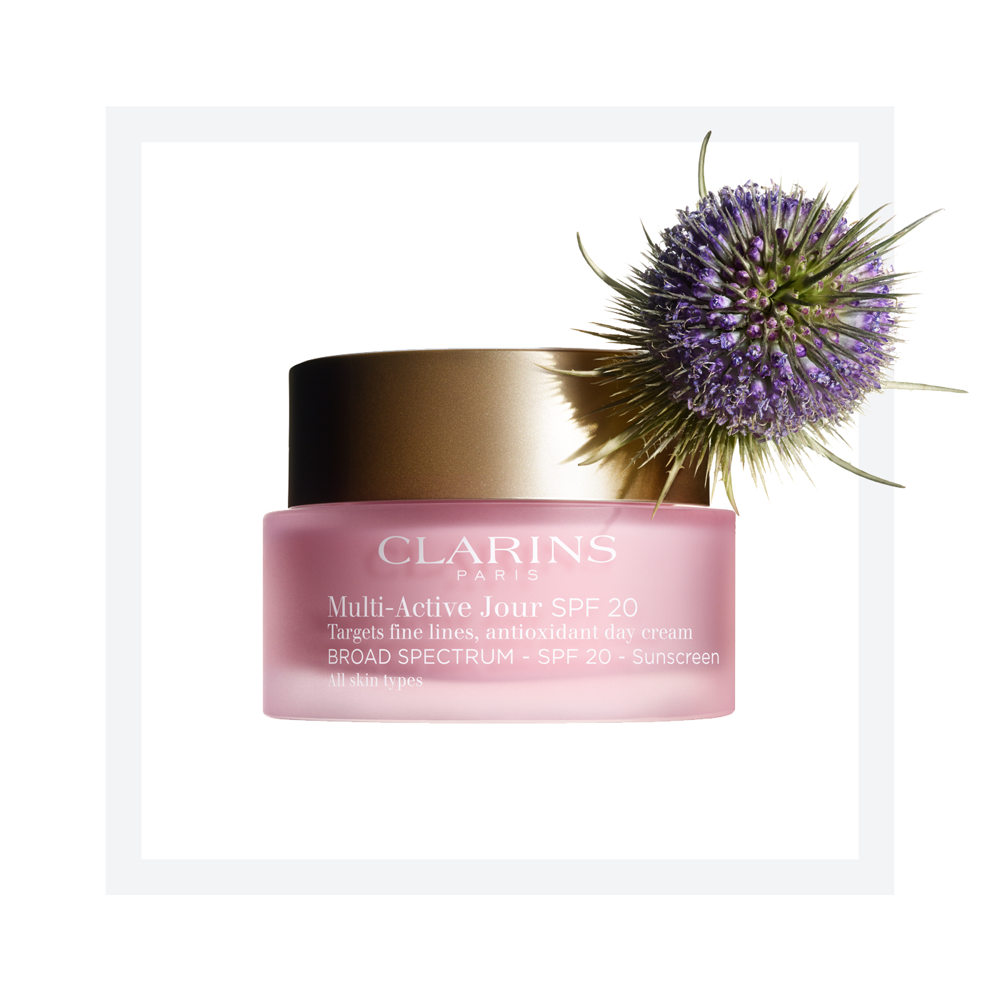 Clarins Multi-Active Day Day Cream with SPF 20 for All Skin Types - 1.7  Oz Fresh Black Tea Age-Delay Infusion 4oz (120ml)